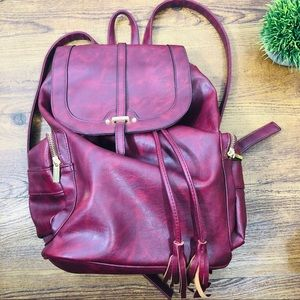 Mossimo Burgandy backpack purse